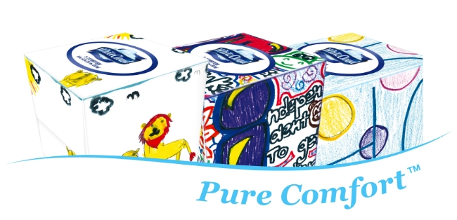 New White Cloud Facial Tissue Box Designs by Children's Network Hospital Children + Upcoming Coupon to Save!
