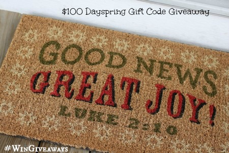 100 Dayspring Gift Code Giveaway