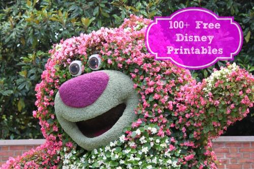 100 Disney Free Printables