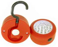 2-Pack Vibe 24 LED Heavy Duty Utility Light with Hook & Magnet Back