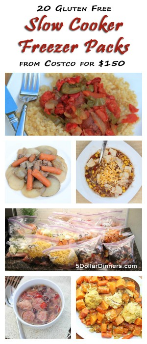 20 Gluten Free Crockpot Freezer Meals from Costco