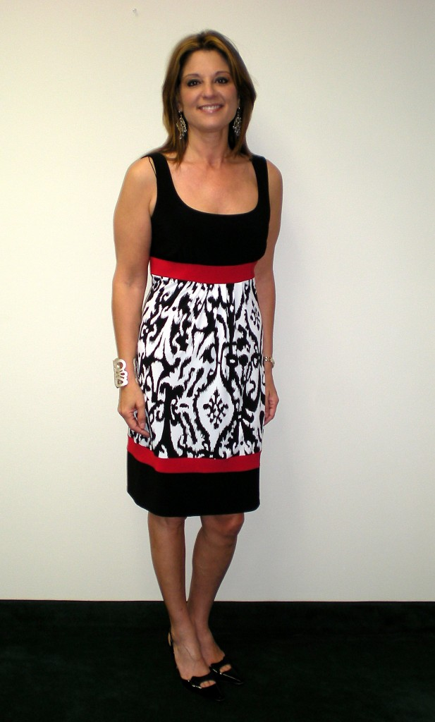 black-red-and-white-print-dress
