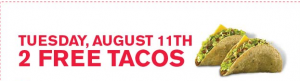 jack in the box free tacos