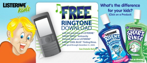 Free Ringtone with Listerine Purchase + $1/1 Coupon