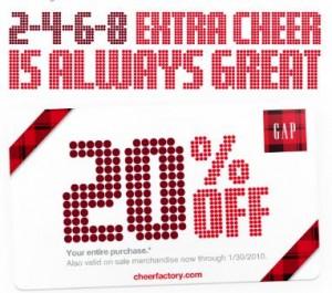 gap printable coupon