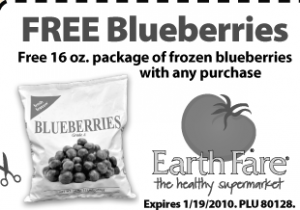 free blueberrie earth fare