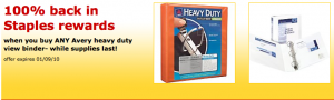 staples free binder offer 300x90 Staples: FREE Avery Binder + $1 Deals
