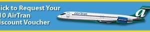 Air Tran: $10 Voucher