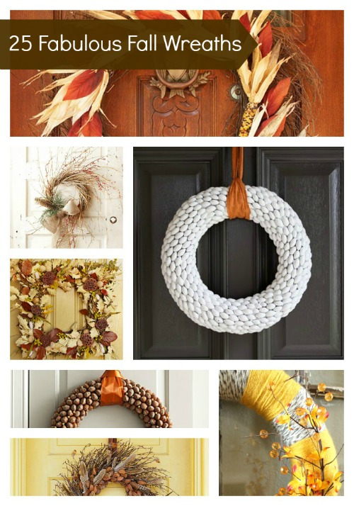 Looking for some fall inspiration for your front door? Check out these fabulous fall wreaths for some wonderful ideas that you can make for yourself! Many of these can be made with items you may already have in your house or yard.