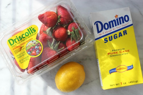 3 Ingredient Strawberry Sauce Ingredients