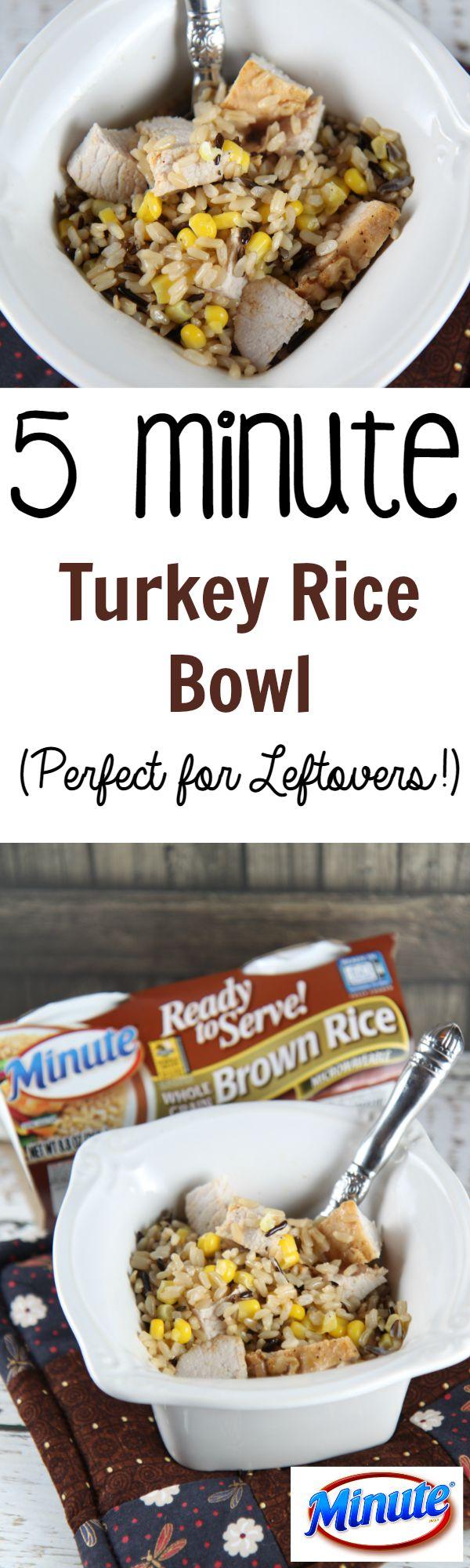 5 Minute turkey Rice Bowl