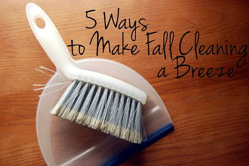 5 Ways to Make Fall Cleaning a Breeze
