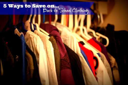5 Ways to Save on Back to School Clothing