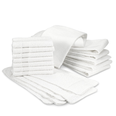 7 Banded Hand Towels or 12 Washcloths- 100% Cotton $9.99 (Shipped)