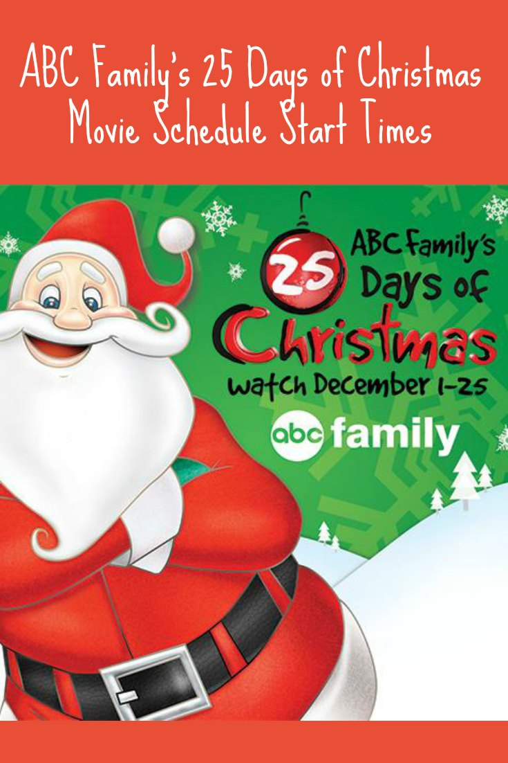 ABC Family 25 Days of Christmas Schedule Start Time