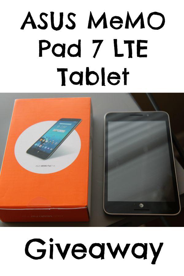 ASUS MeMO Pad 7 LTE Giveaway