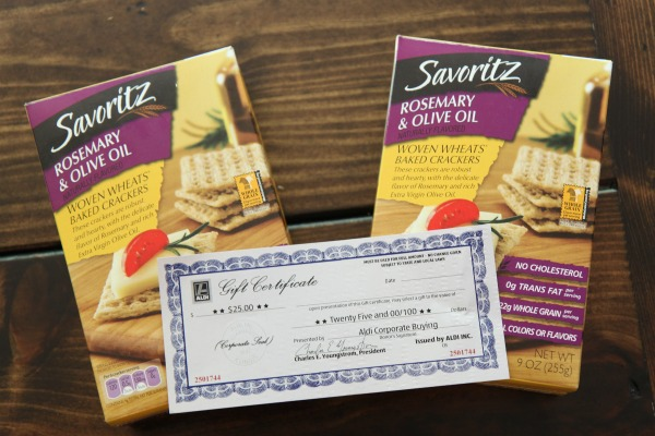 New Savoritz Rosemary & Olive Oil Crackers at Aldi + $25 Gift ...