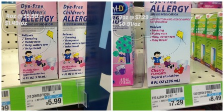 Allergy Medication per Ounce Compare