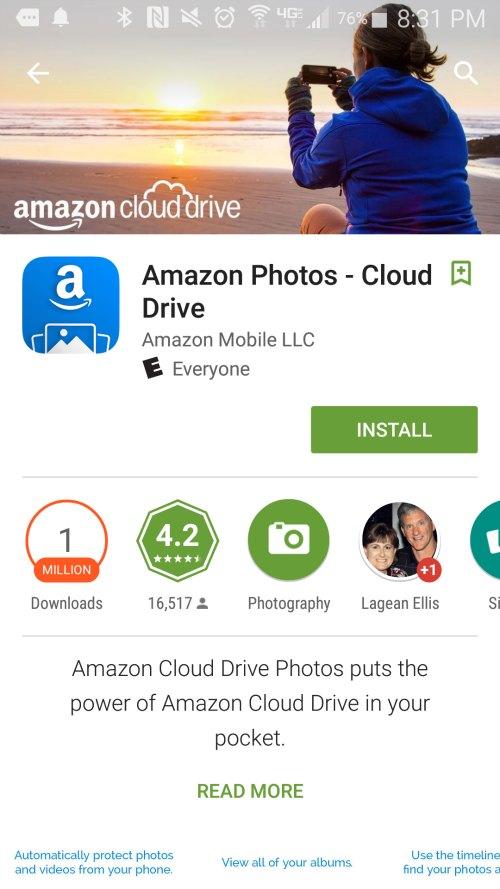 Amazon Cloud Drive Photo App