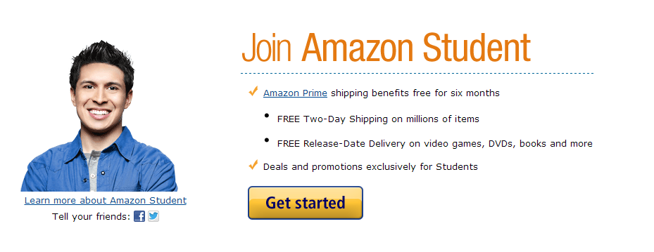 amazon free shipping for students