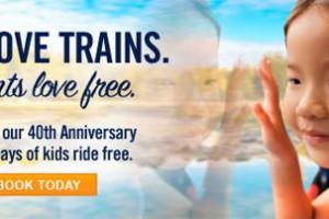 Amtrak: Kids Ride Free 5/1-6/9