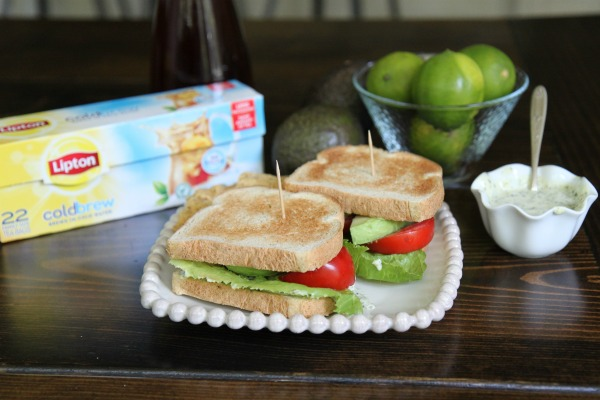 Avocado Club Sandwich with Cilantro-Lime Mayo - Perfect Pairing with Lipton Cold Brew