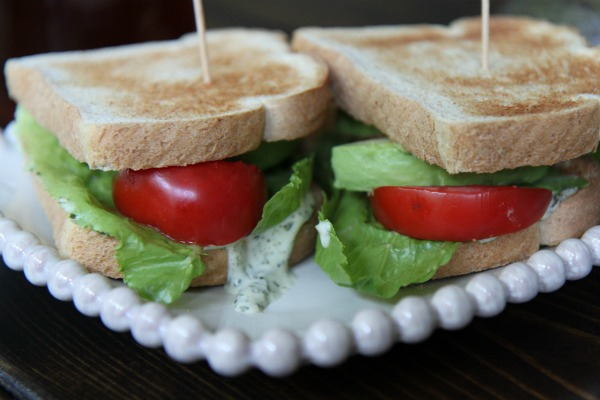 Avocado Club Sandwich with Cilantro-Lime Mayo