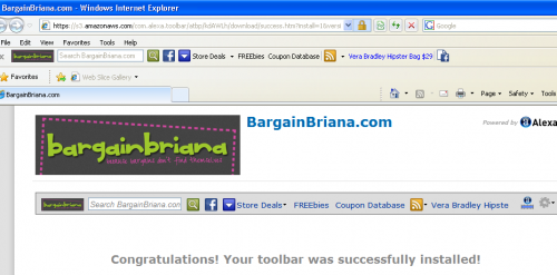 Get the Bargain Briana Toolbar