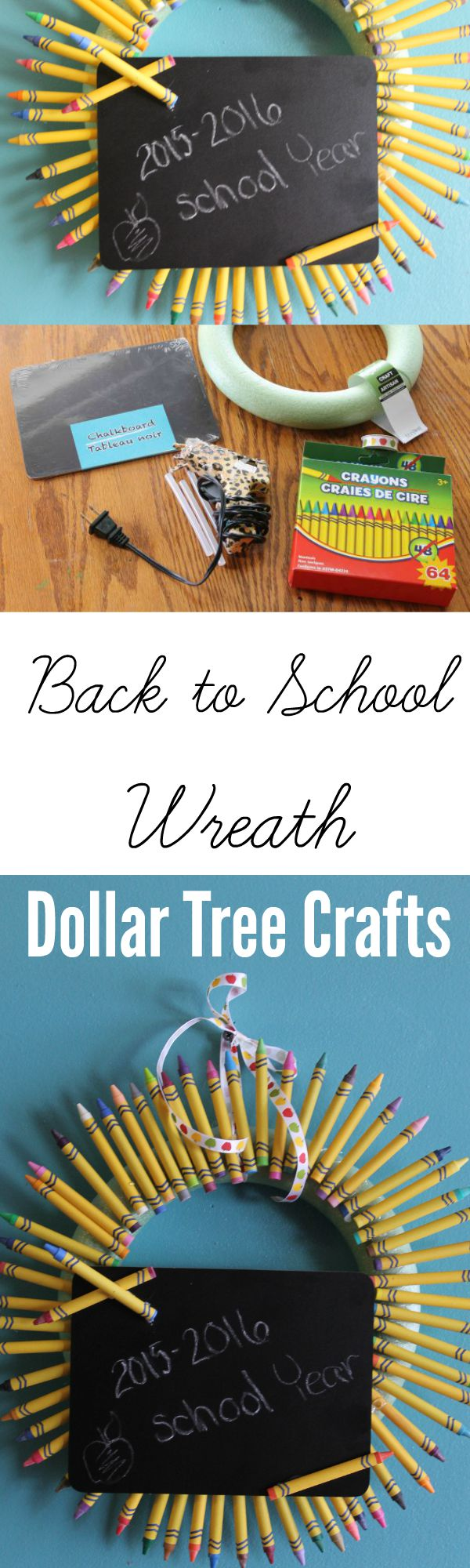 Back to School Dollar Tree Craft Wreath