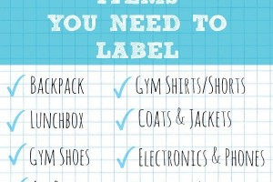 10 Back to School Items You Need to Label