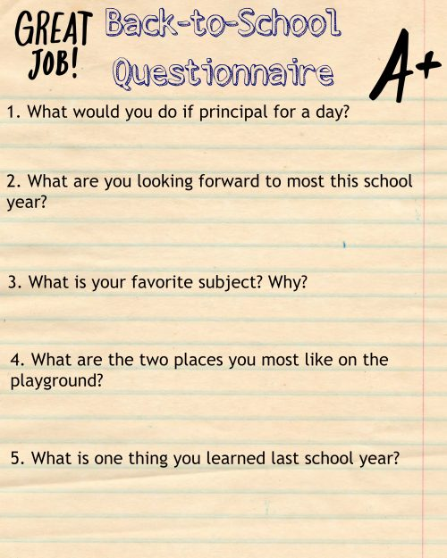 Back to School Questions
