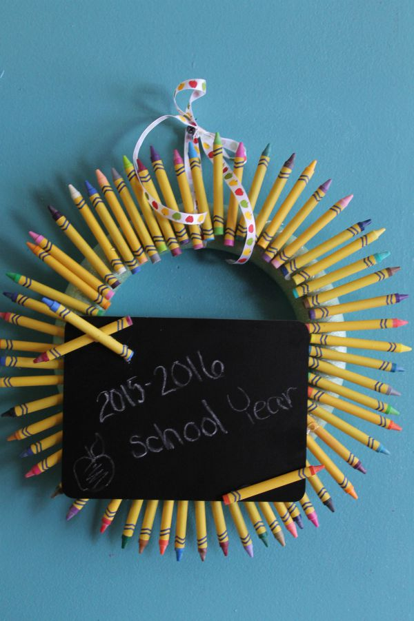Back to School Wreath Craft