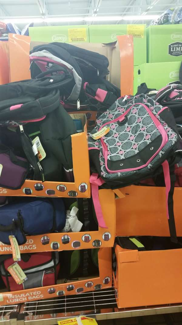 Backpacks at ALDI