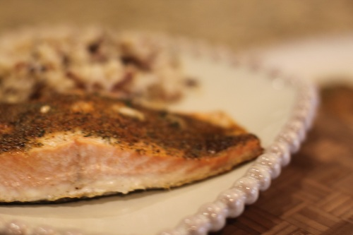 Baked Crusted Salmon Recipe Flaky
