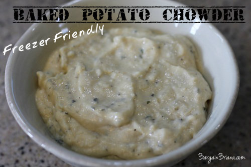 Baked Potato Chowder | Freezer Friendly