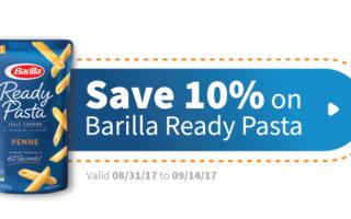 Save 10% on Barilla Ready Pasta at Target