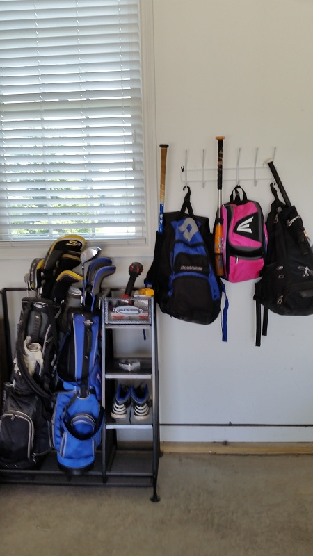 Baseball and Golf Gear Organization