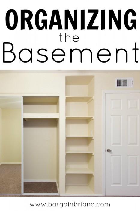 Basement Organization Tips