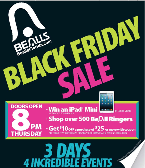 2013 Bealls Black Friday Ad