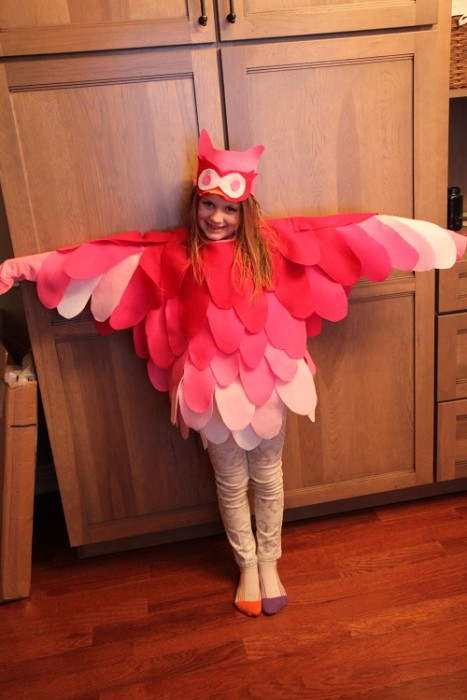 DIY Pink Flamingo-Owl Costume