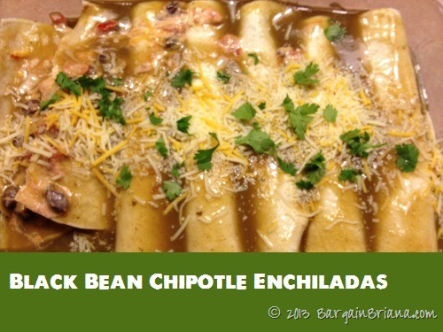 Black Bean Chipotle Enchiladas