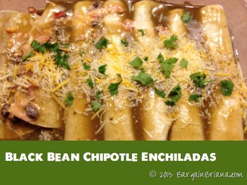 Black Bean Chipotle Enchiladas