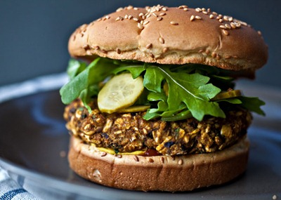 Black Bean and Pumpkin Burger 50 Pumpkin Recipes to Try