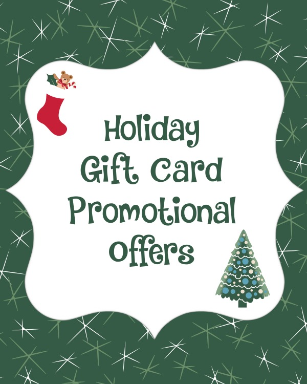 Bonus Gift Card Offers for 2014