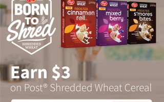 Earn $3 on Post® Shredded Wheat Cereal