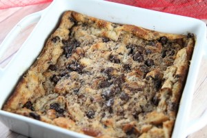 Old Fashioned Chocolate Chip Bread Pudding