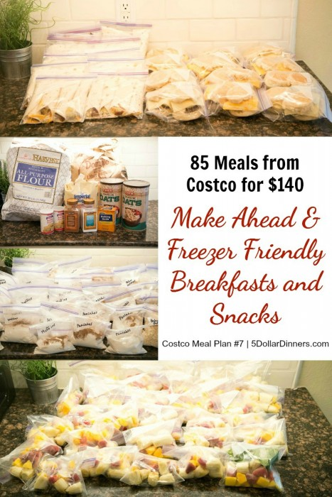 Breakfast and Snack Meal Plans