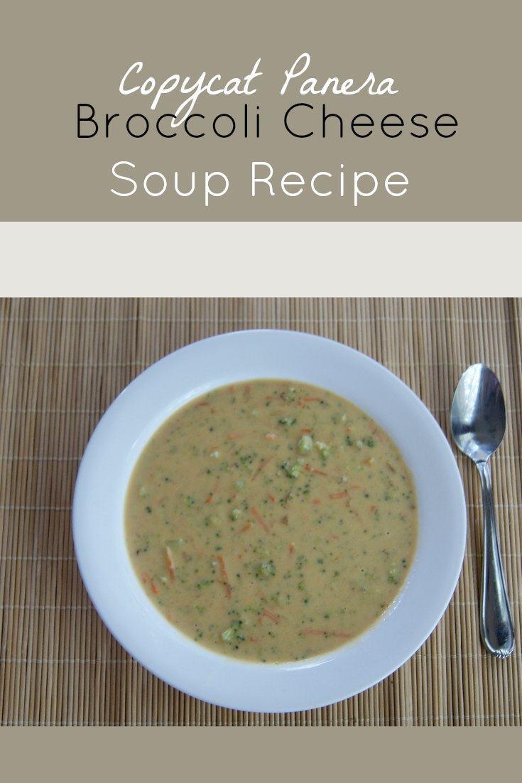 Broccoli Cheese Soup Recipe - Copycat Panera Broccoli Cheese Soup Recipe