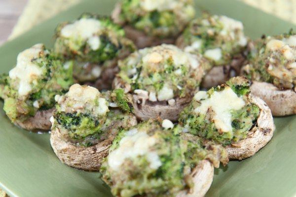 Broccoli Stuffed Mushrooms - delicious