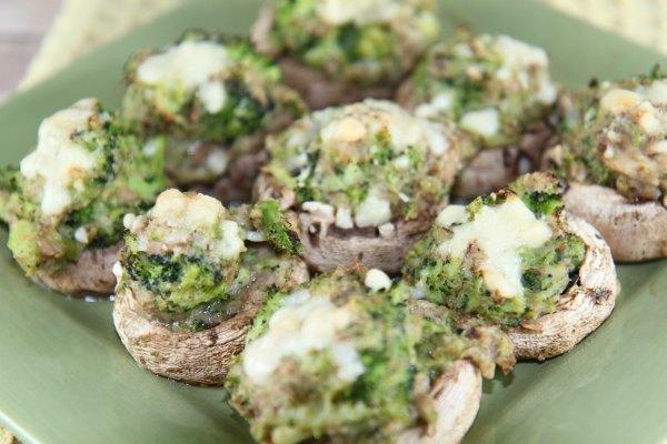 Broccoli Stuffed Mushrooms - delicious